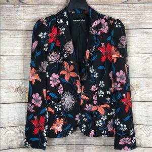 Who What Wear Floral long-sleeve Blaze